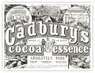 Cadbury's Cocoa Essence. The launch of this product was pivotal in the early success of the company and was made possible by the revolutionary Van Houten cocoa press.