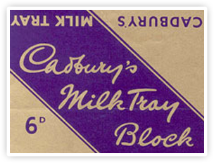 Cadbury Milk Tray Bar Packaging.