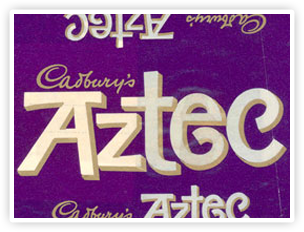 Cadbury Aztec packaging.