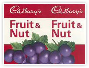 Cadbury Fruit & Nut - one of the brands that saw large increases in sales in the 1970's