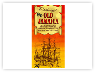 Cadbury Old Jamaica packaging.