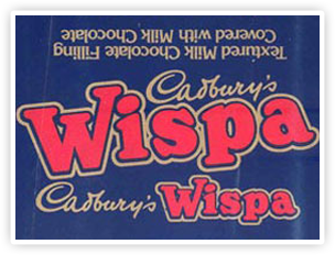 Cadbury Wispa packaging in 1981