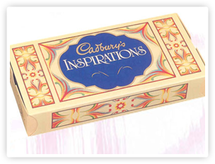 A box of Cadbury Inspirations