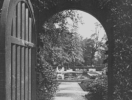 The Secret Garden. The gate to the girls grounds.